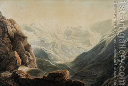 Vue Du Col De Tende by Giuseppe Pietro Bagetti - Reproduction Oil Painting