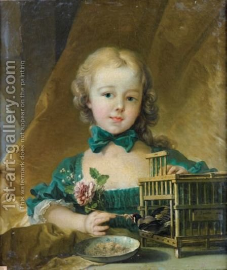 Portrait D'Alexandrine Lenormand D'Etiolles (1744-1754) by (after) Francois Boucher - Reproduction Oil Painting
