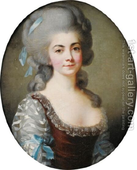 Portrait Of Madame De Saint-Huberty, Born Anne-Antoinette-Cecile Clavel, French Opera Singer (1756-1812) by (after) Elisabeth Vigee-Lebrun - Reproduction Oil Painting