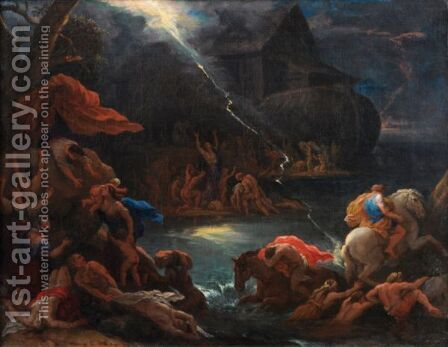 The Flood by Ecole Francaise, Xixeme Siecle - Reproduction Oil Painting