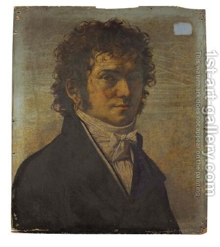 Portrait D'Homme by (after) Jean Baptiste Joseph Wicar - Reproduction Oil Painting