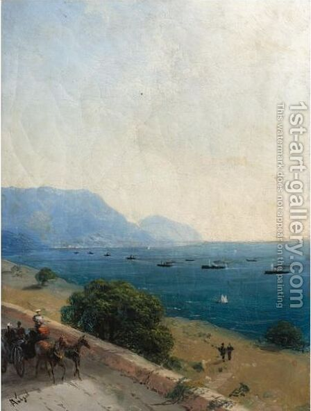 Black Sea Fleet by Ivan Konstantinovich Aivazovsky - Reproduction Oil Painting
