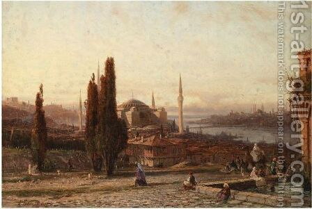 View Of Constantinople by (after) Aleksei Petrovich Bogoliubov - Reproduction Oil Painting
