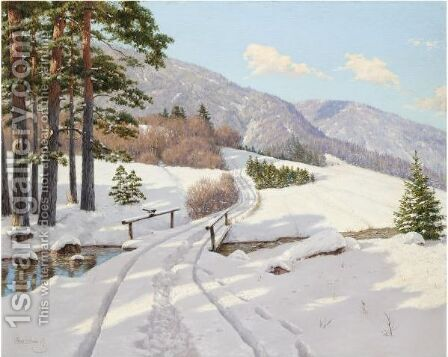 Early Sun In Dauphine by Boris Vasilievich Bessonov - Reproduction Oil Painting
