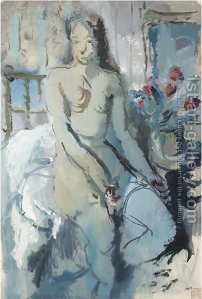 Nude by Alexander Evgenievich Yakovlev - Reproduction Oil Painting