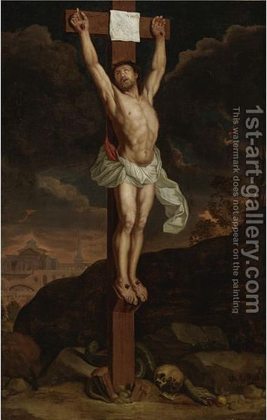 The Crucifixion by (after) Le Brun, Charles - Reproduction Oil Painting
