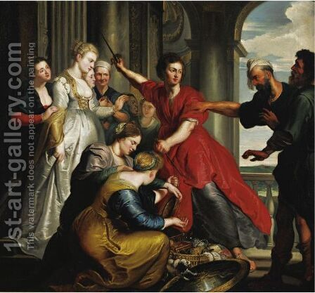 Ulysses Discovers Achilles At The Court Of Lycomedes by (after) Sir Peter Paul Rubens - Reproduction Oil Painting