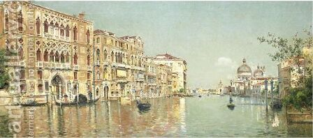 The Grand Canal 2 by Antonio Maria de Reyna - Reproduction Oil Painting