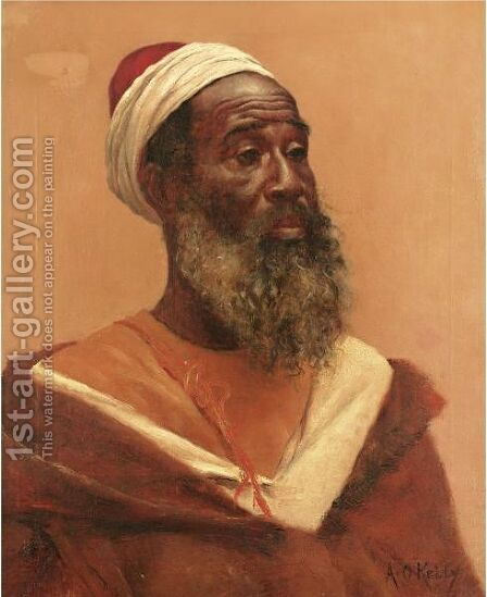 Portrait Of An Arab Man by Aloysius O'kelly - Reproduction Oil Painting