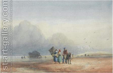 Fort Rouge, Normandy by David Cox - Reproduction Oil Painting