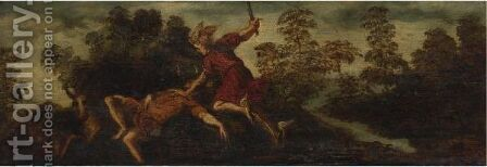 Mercury Slaying Argus by Bonifazio Veronese - Reproduction Oil Painting
