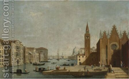 View Of The Grand Canal From Santa Maria Carita To The Bacino Di San Marco by (after) (Giovanni Antonio Canal) Canaletto - Reproduction Oil Painting