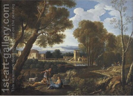 Classical Landscape by Andrea Locatelli - Reproduction Oil Painting