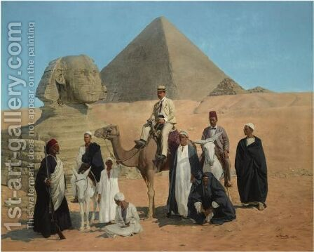 Before The Pyramids by Alois Stoff - Reproduction Oil Painting