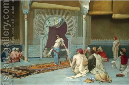 The Harem Dance by Continental School - Reproduction Oil Painting