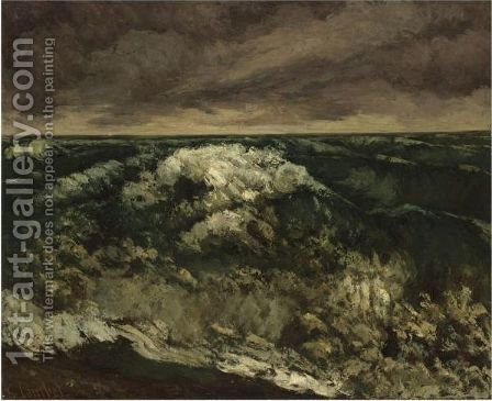 La Vague 6 by Gustave Courbet - Reproduction Oil Painting