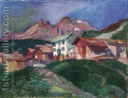 Capolago, 1929 by Giovanni Giacometti - Reproduction Oil Painting