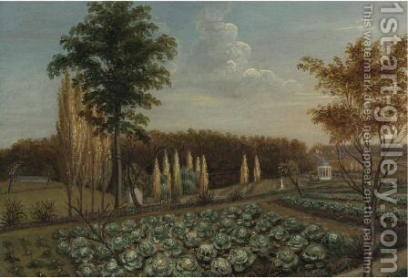 Cabbage Patch, The Gardens Of Belfield, Pennsylvania by Charles Willson Peale - Reproduction Oil Painting