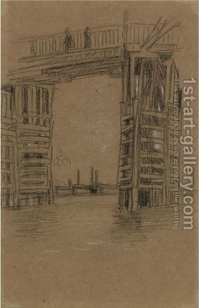 Study For The Tall Bridge by James Abbott McNeill Whistler - Reproduction Oil Painting