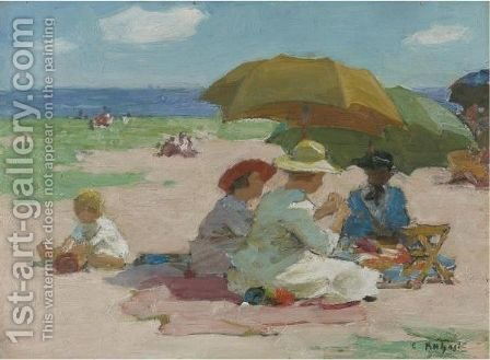 At The Beach 3 by Edward Henry Potthast - Reproduction Oil Painting