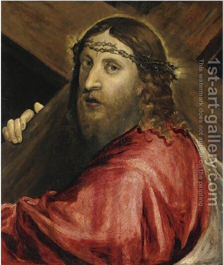 Cristo Portacroce by (after) Jacopo Tintoretto (Robusti) - Reproduction Oil Painting