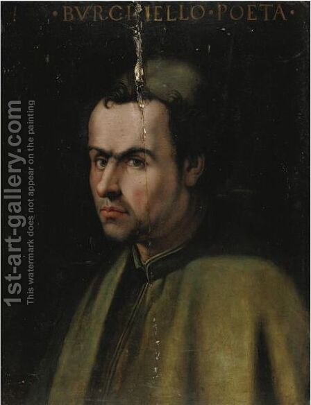 Ritratto Del Poeta Burchiello by (after) Agnolo Bronzino - Reproduction Oil Painting