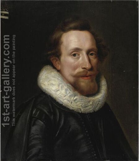 Ritratto Di Gentiluomo Con Barba In Abito Nero by (after) Michiel Jansz. Van Mierevelt - Reproduction Oil Painting