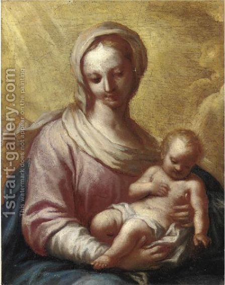 Madonna Col Bambino 8 by Italian School - Reproduction Oil Painting