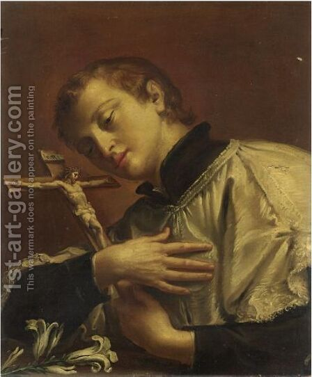 San Luigi Gonzaga by Italian School - Reproduction Oil Painting
