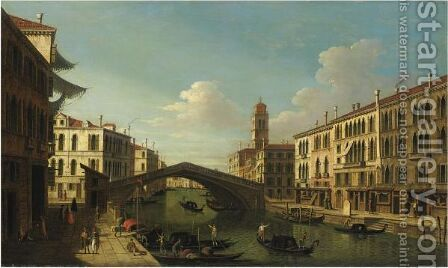 Venezia, Il Ponte Delle Guglie by Italian School - Reproduction Oil Painting