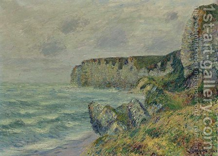 Les Falaises De Saint-Jouin 2 by Gustave Loiseau - Reproduction Oil Painting