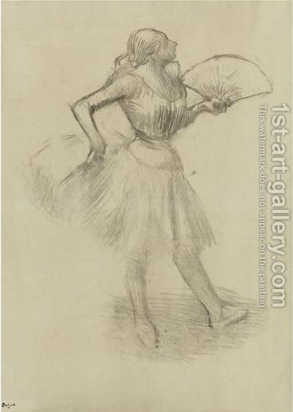 Danseuse A L'eventail 3 by Edgar Degas - Reproduction Oil Painting