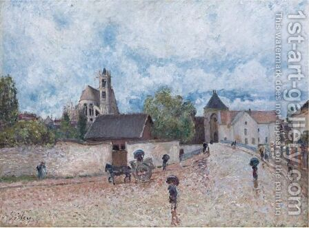 MORET-SUR-LOING, TEMPS DE PLUIE by Alfred Sisley - Reproduction Oil Painting