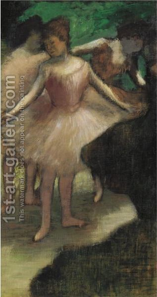 Trois Danseuses En Rose by Edgar Degas - Reproduction Oil Painting