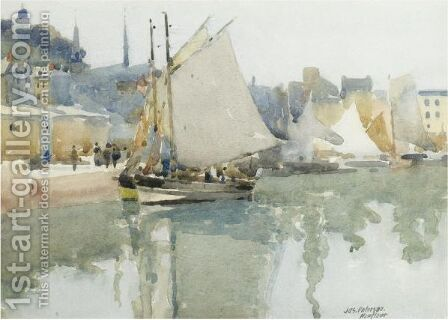 The Harbour, Honfleur by James Paterson - Reproduction Oil Painting