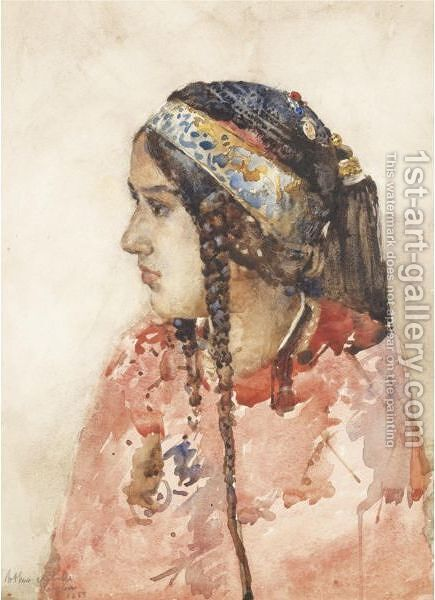 The Babylonian Girl by Arthur Melville - Reproduction Oil Painting
