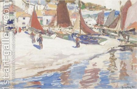 Boats On The Beach by James Kay - Reproduction Oil Painting