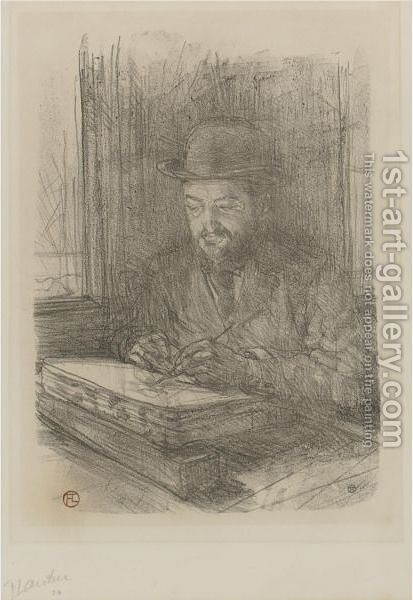 Le Bon Graveur, Adolphe Albert by Toulouse-Lautrec - Reproduction Oil Painting