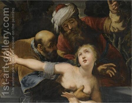 Susanna And The Elders by Claude Vignon - Reproduction Oil Painting