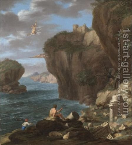 The Fall Of Icarus by (after) Laurent De La Hyre - Reproduction Oil Painting