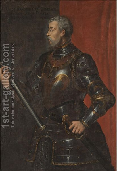 Portrait Of The The Condottiere Guido Rangoni (D. 1543) by (after) Tiziano Vecellio (Titian) - Reproduction Oil Painting