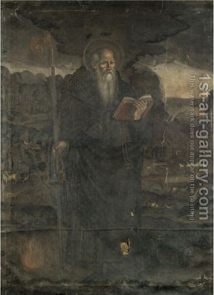 Saint Anthony Abbot by Italian School - Reproduction Oil Painting