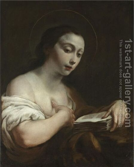 The Penitent Magdalene by (after) Giuseppe Maria Crespi - Reproduction Oil Painting