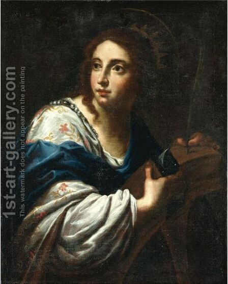 Saint Catherine by (after) Simone Pignoni - Reproduction Oil Painting