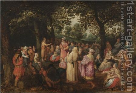 Saint John The Baptist Preaching In The Wilderness by (after) David Vinckboons - Reproduction Oil Painting