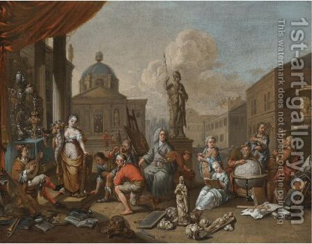 An Allegory Of The Arts by (after) Hendrik Govaerts - Reproduction Oil Painting