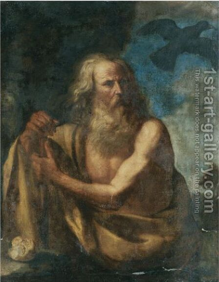 Saint Paul The Hermit by (after) Giovanni Francesco Guercino (BARBIERI) - Reproduction Oil Painting