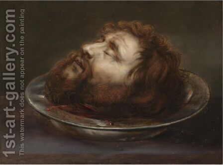 The Head Of Saint John The Baptist by (after) Jan Cossiers - Reproduction Oil Painting