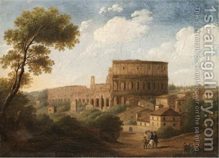 Rome, A View Of The Colosseum by (after) Hendrik Frans Van Lint (Studio Lo) - Reproduction Oil Painting