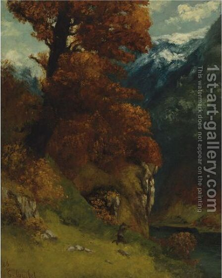 Le Chasseur by Gustave Courbet - Reproduction Oil Painting
